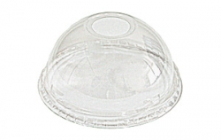 100 Domdeckel mit Loch für Clear Cups 0,3l - 0,4l, PET