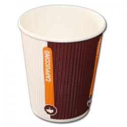 25 Doppelwand - ripple cup Coffee to go Becher, 0,3l