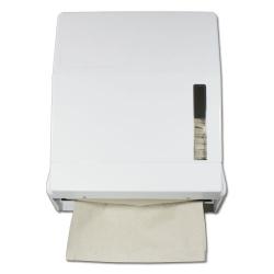 1 Handtuchpapierspender für 600 Blatt, weiss, 320x285x130mm